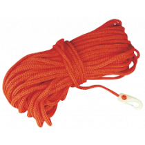 Floating hollow braided rope with nylon snap hook