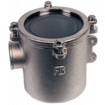 allpa Nickel Plated Cooling Water Strainers (robust) with Stainless Steel 316 Strainer