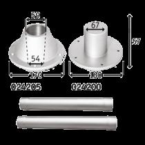 Aluminum pedestal set