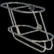 Stainless steel fender baskets, oblique model for 2 fenders