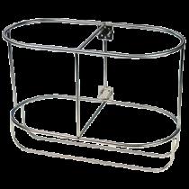 Stainless steel fender baskets, upright model for 2 fenders