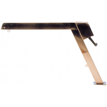 Stainless steel davits with fixed arm