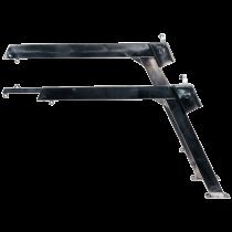 Stainless steel davits met telescopische arm