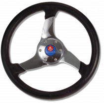 "allpa wheel model ""Elica"", ∅350mm with black Polyurethane rim"