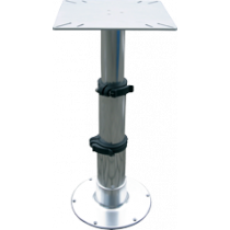 "Aluminum table pedestal ""Tristar"" with 3-stage gas lift adjustment"