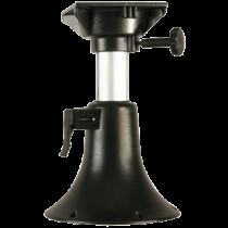 Aluminum Belle Adjustable Pedestal, H=330-430mm ( 5-positions ), Swivel with 4x Lock, Base Ø254mm ( light grey )