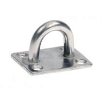 Stainless steel eye plate with straight base