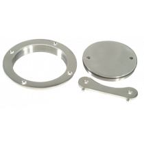 """Stainless Steel Deck Plate with Key, Ø102mm ( 4"""" )"""