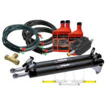 SeaStar Hydraulic Steering Kit for Outboards up to 350HP, side mount Twin Cylinder
