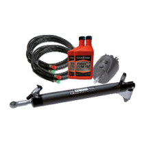 SeaStar Hydraulic Steering Kit for Outboards up to 350HP, Splash Well mount Cylinder