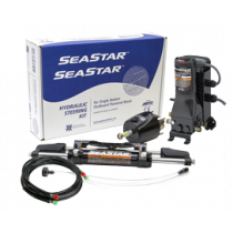 SeaStar Hydraulic Steering Kit including Power Assist for Outboards up to 350HP