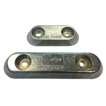 Aluminum anodes bolt mounting