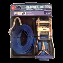 Webbing with hook & tie down ratchet