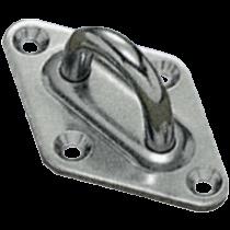 Stainless steel diamnod shaped eye plates