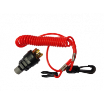 Safety Switch complete with Coiled String, for In- & Outboards