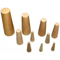 10-piece set of wooden conical emergency plugs