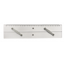 Plexiglass parallel ruler