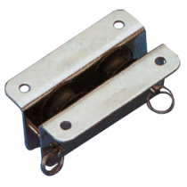 allpa stainless steel inlet block double for 8mm line, sheave Ø25mm
