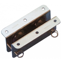 allpa stainless steel inlet block double for 10mm line, sheave Ø33mm
