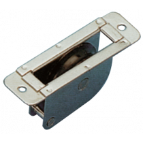 allpa stainless steel thru-deck single block for 8mm line, flat, sheave Ø38mm