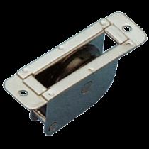 allpa stainless steel thru-deck single block for 8mm line, round