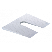 Plastic Transom Protection Pad, white, tapered