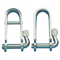 Stainless steel halyard shackle
