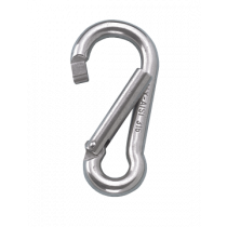 Stainless steel snap hook with assymetric opening