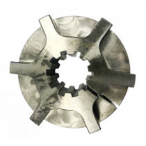 Hub damper plate 10-teeth, low profile H=37mm. Working length 31mm