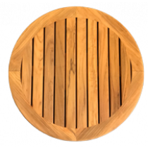 Teak table top Ø610mm