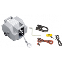 Electric trailer winch 12V, rotates two sides