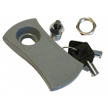 Lock with key, spare key for plastic hatch Grey
