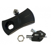 Lock with key, spare key for plastic hatch Black