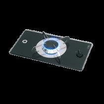 allpa Gas hob-unit with thermic glass-plate, 365x200x80mm, burners: 1x medium
