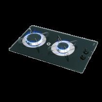 allpa Gas hob-unit with thermic glass-plate, 500x300x80mm, burners: 1x medium / 1x large