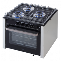 allpa stainless steel oven with 3 stoves