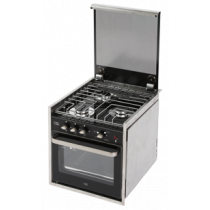Stainless Steel oven with grill and stove with 3 burners