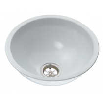 allpa Stainless Steel Sinks, Round, with White Expoxy coating