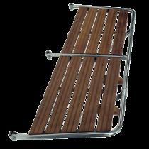 Stainless Steel Transom Platform with Teak Wood