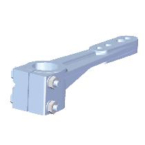 allpa Aluminum rudder arms