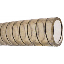 allpa Transparent PVC hose with steel spiral inlay