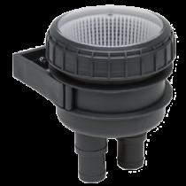 Kunststof filter met wandhouder & doorzichtig deksel