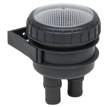 allpa Plastic Cooling water strainer Ø19-25mm, with mounting frame & transparent cover 150l/min