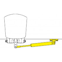 SeaStar Outboard Cylinder Splash Well Mount