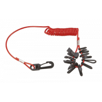Univeral Kill Switch Key Set with Coiled String for most Outboard Brands