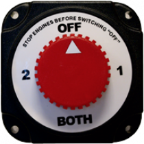 allpa battery selector switch, 350A continuous, splash proof