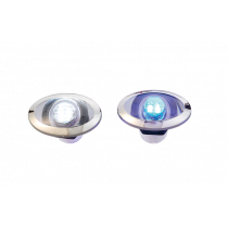 LED Courtesy light with stainless steel moon / ring - White / Blue