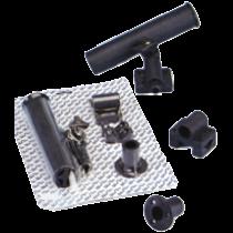 Black nylon rod holder, universal mounting
