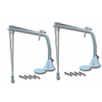 Set stainless steel davits with aluminum base