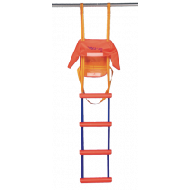 Nylon emergency ladder with 5-steps